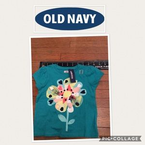 Old Navy little girls shirts 2 shirts for $10